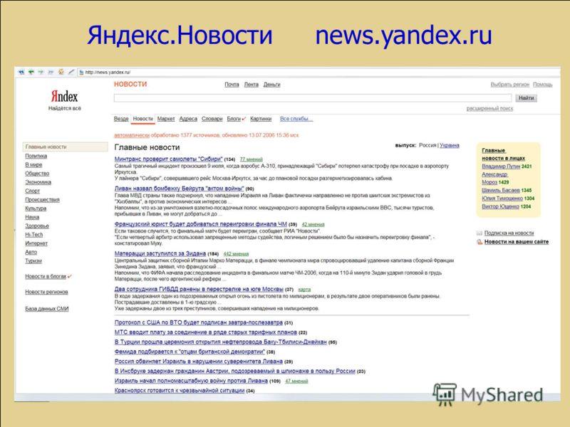 Яндекс.Новостиnews.yandex.ru
