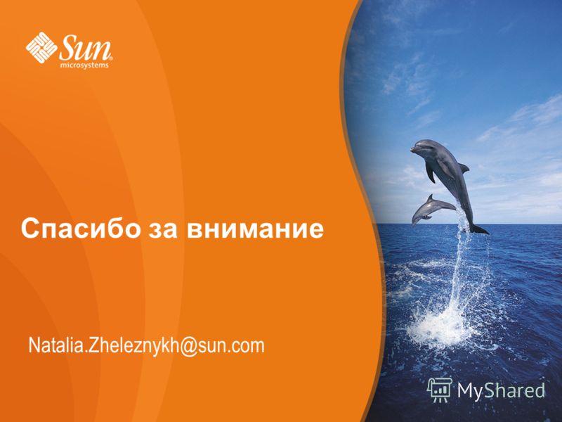 Page Спасибо за внимание Natalia.Zheleznykh@sun.com
