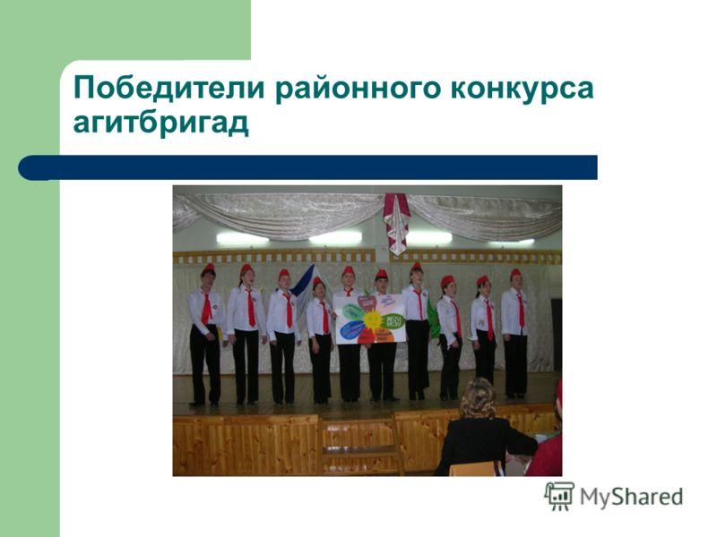 Победители районного конкурса агитбригад