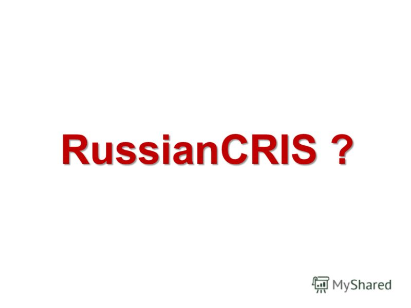 RussianCRIS ?