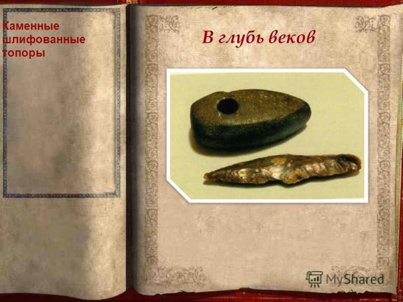 В глубь веков Каменные шлифованные топоры