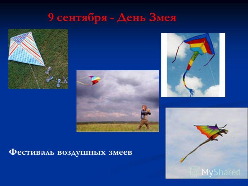 9 сентября - День Змея Фестиваль воздушных змеев