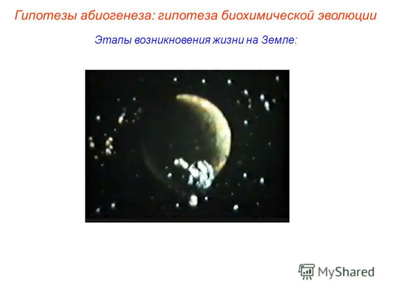 Этапы возникновения жизни на Земле: Гипотезы абиогенеза: гипотеза биохимической эволюции