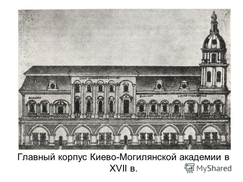 Главный корпус Киево-Могилянской академии в XVII в.