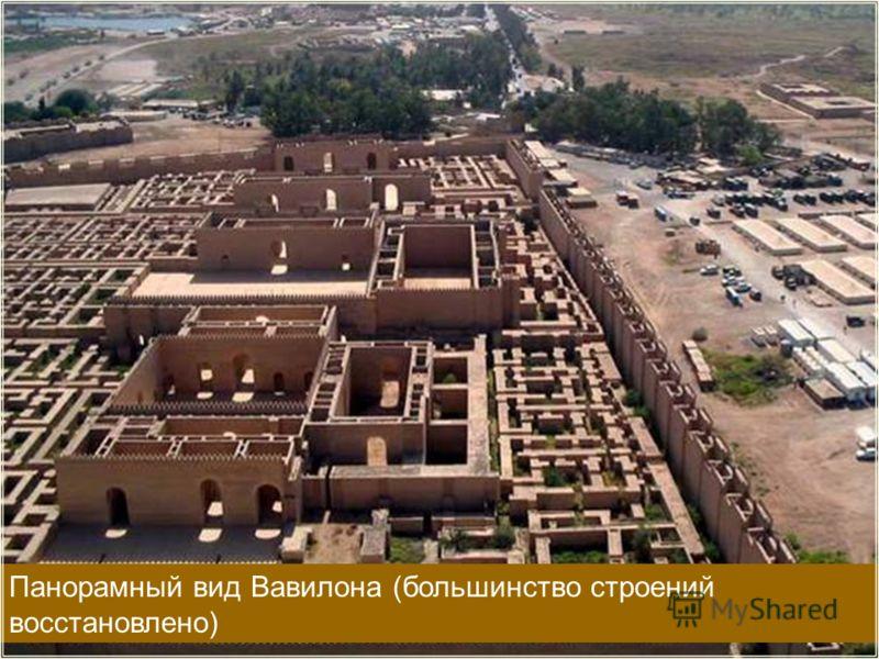 Панорамный вид Вавилона (большинство строений восстановлено)