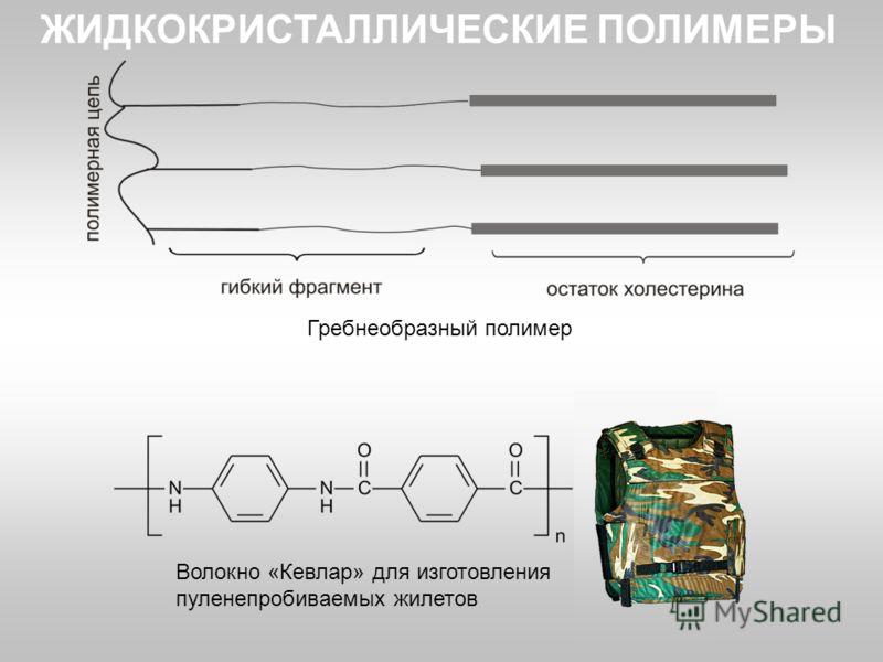 Гребнеобразный полимер Волокно «Кевлар» для изготовления пуленепробиваемых жилетов ЖИДКОКРИСТАЛЛИЧЕСКИЕ ПОЛИМЕРЫ