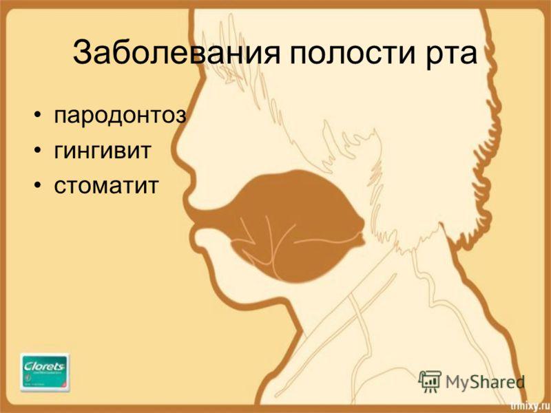 Заболевания полости рта пародонтоз гингивит стоматит