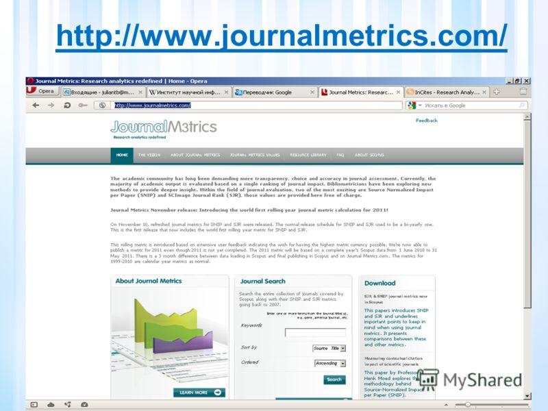 http://www.journalmetrics.com/