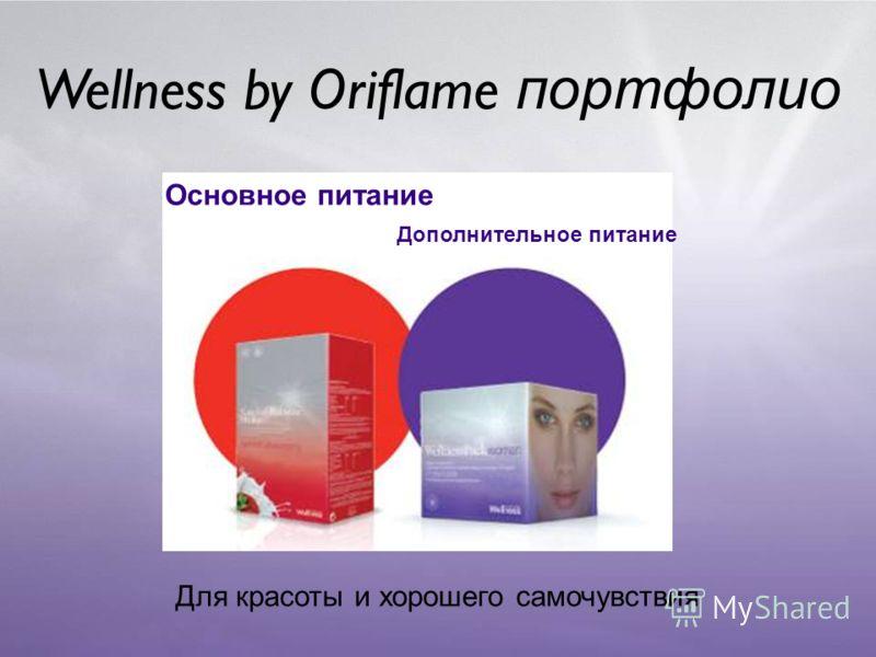 Wellness by Oriflame портфолио Основное питание Для красоты и хорошего самочувствия Дополнительное питание