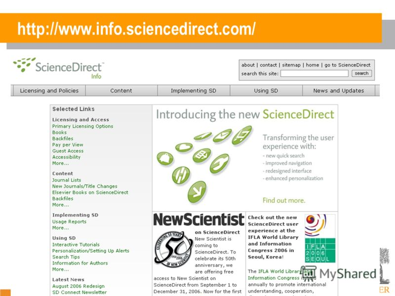 http://www.info.sciencedirect.com/