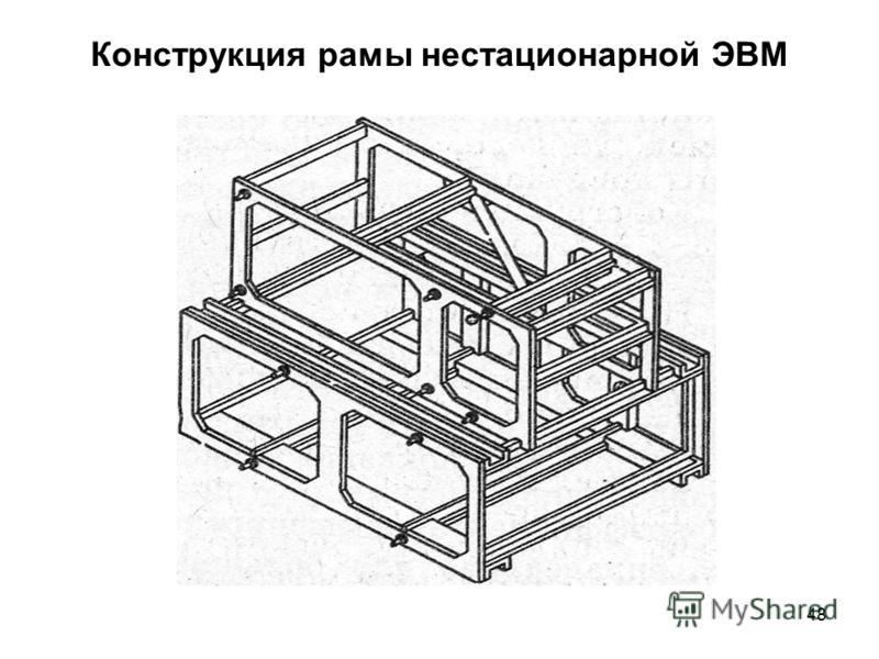 48 Конструкция рамы нестационарной ЭВМ