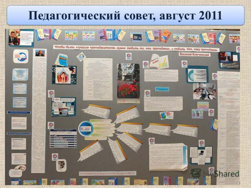 Педагогический совет, август 2011