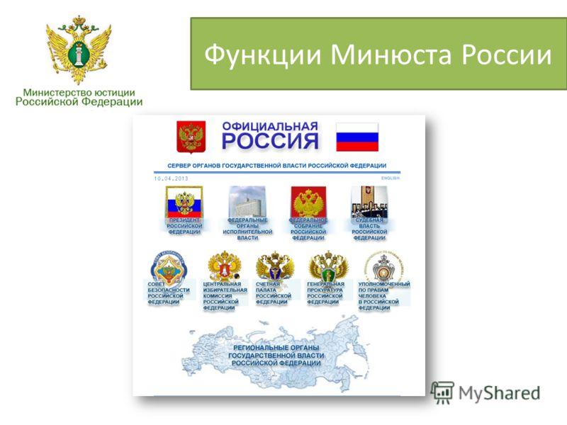 Функции Минюста России