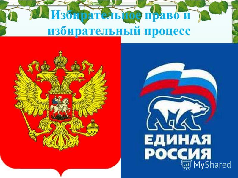 Избирательное право и избирательный процесс