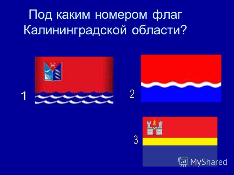 Под каким номером флаг Калининградской области?