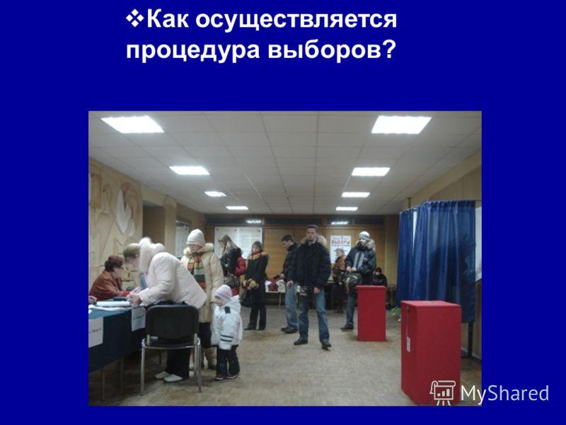 Как осуществляется процедура выборов?