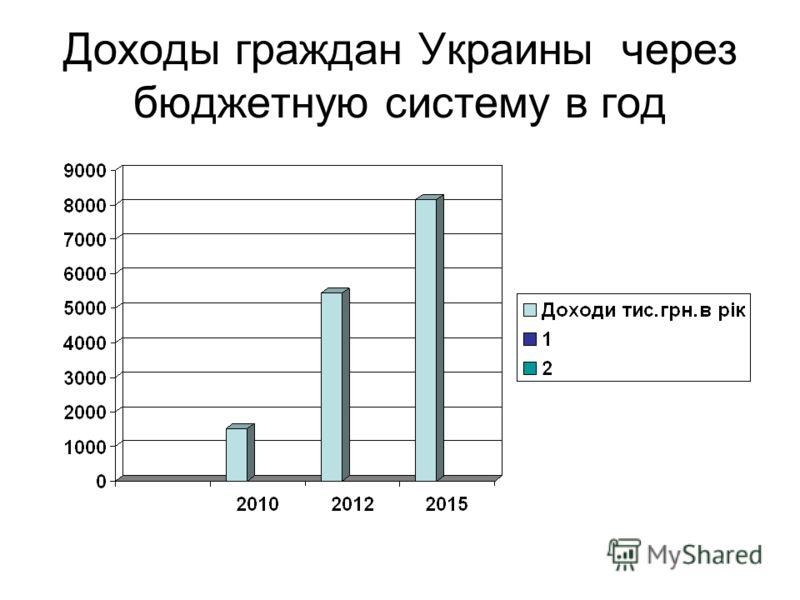 Доходы граждан Украины через бюджетную систему в год