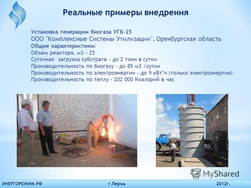 Установка генерации биогаза УГБ-25 ОOО