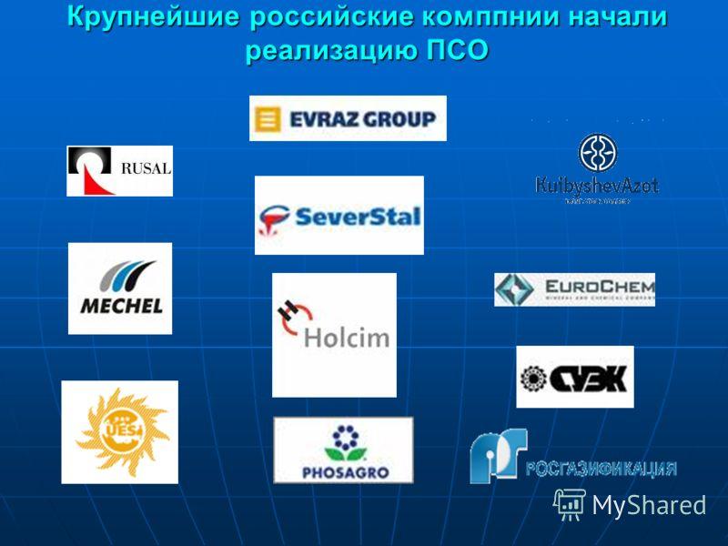 Крупнейшие российские комппнии начали реализацию ПСО