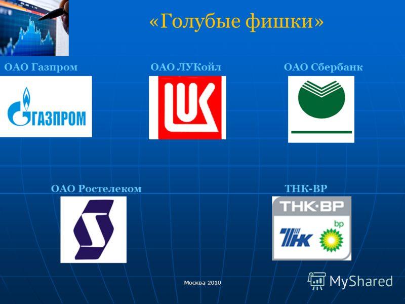 «Голубые фишки» ОАО Газпром ОАО ЛУКойл ОАО Сбербанк ОАО Ростелеком ТНК-ВР Москва 2010