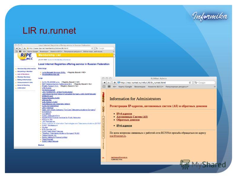 LIR ru.runnet