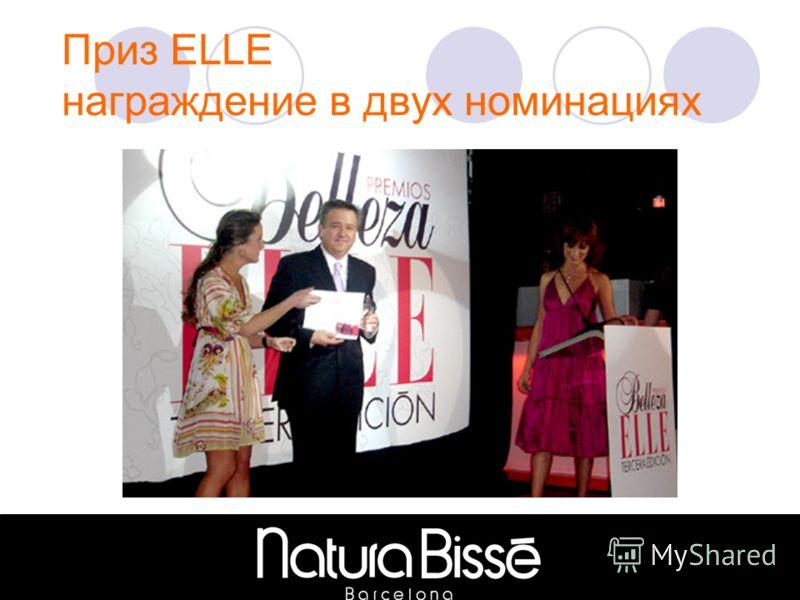 Приз ELLE награждение в двух номинациях