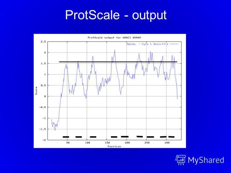 ProtScale - output