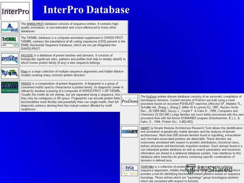 InterPro Database.