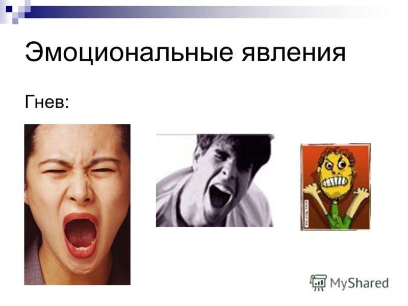 Эмоциональные явления Гнев: