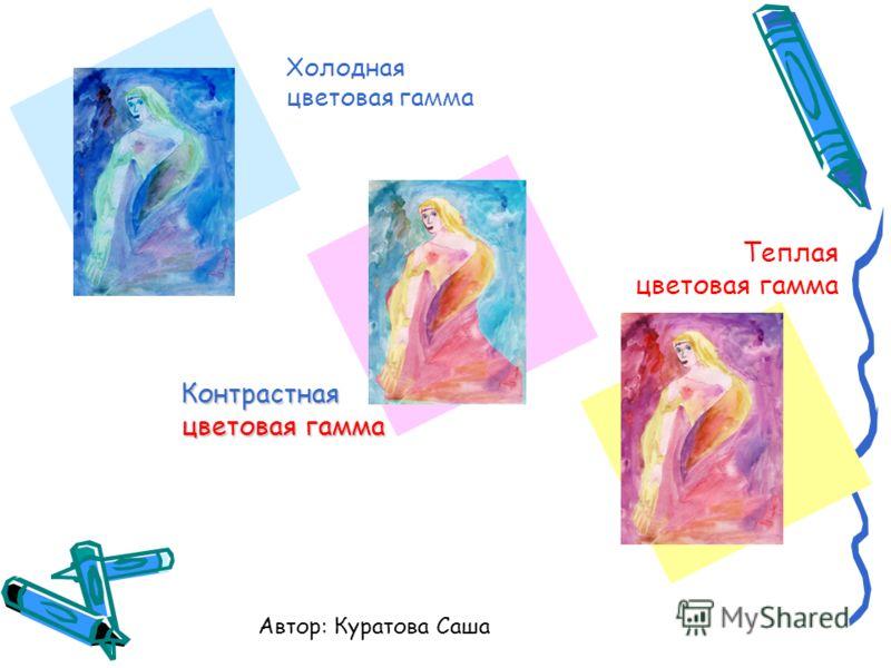 Холодная цветовая гамма Теплая цветовая гамма Контрастная цветовая гамма Автор: Куратова Саша