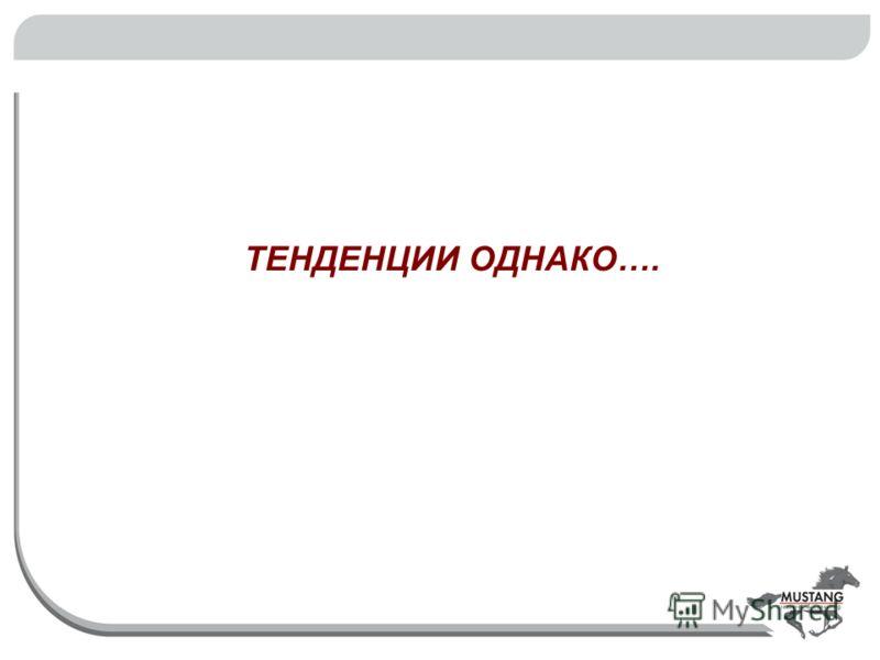ТЕНДЕНЦИИ ОДНАКО….
