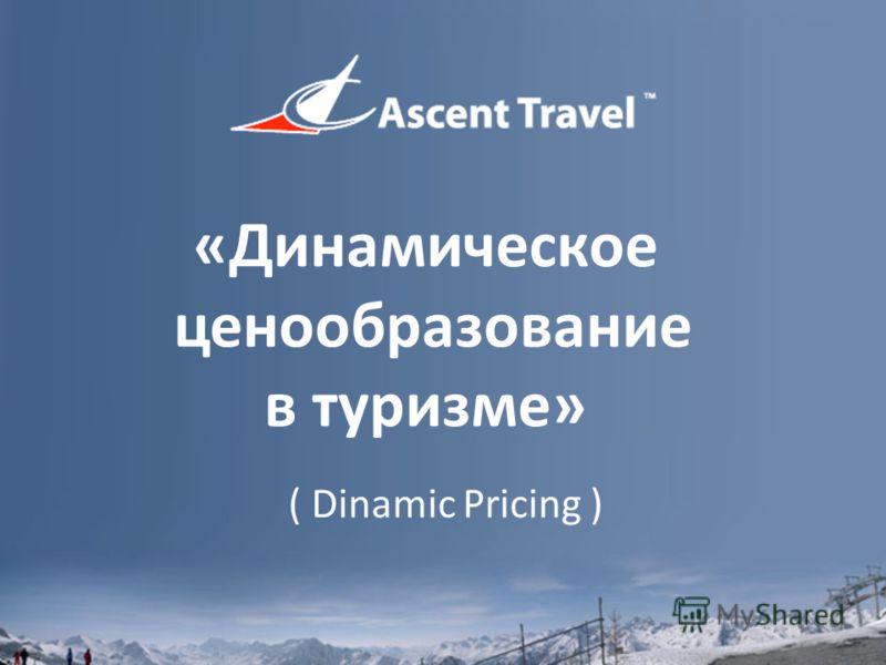 «Динамическое ценообразование в туризме» ( Dinamic Pricing )