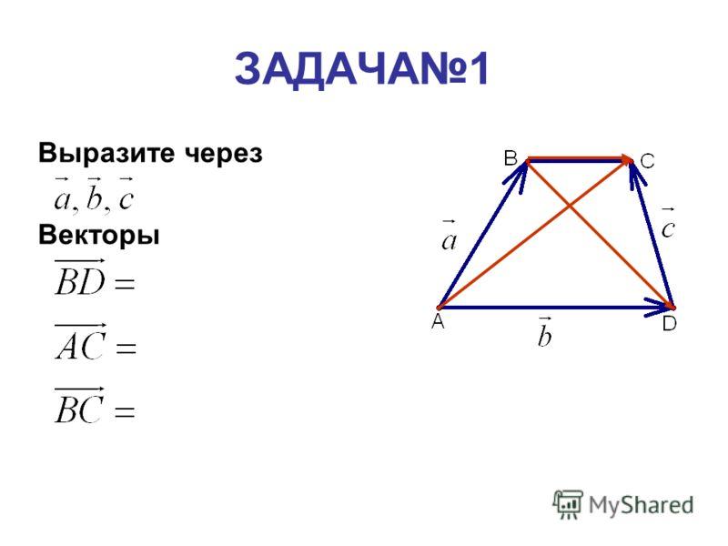 ЗАДАЧА1 Выразите через Векторы