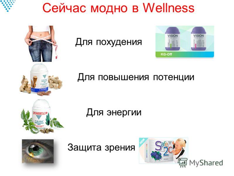 Сейчас модно в Wellness Для похудения Для повышения потенции Для энергии Защита зрения