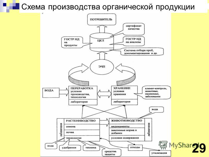 Схема производства органической продукции 29