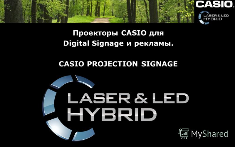 Проекторы CASIO для Digital Signage и рекламы. CASIO PROJECTION SIGNAGE