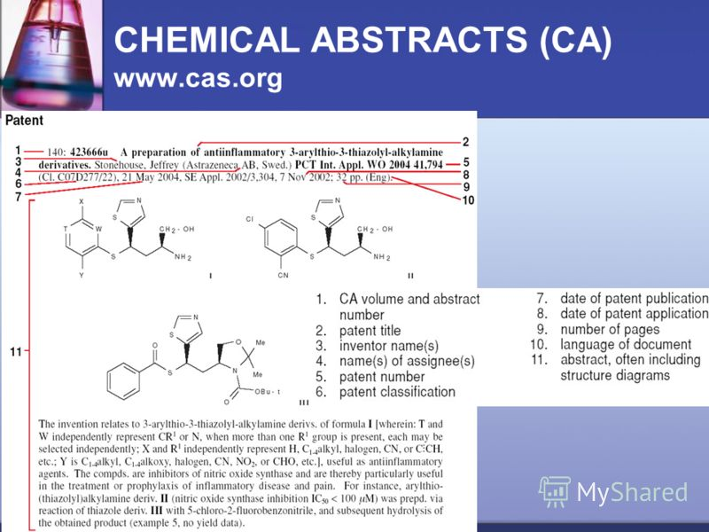 CHEMICAL ABSTRACTS (CA) www.cas.org
