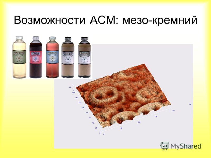 Возможности АСМ: мезо-кремний