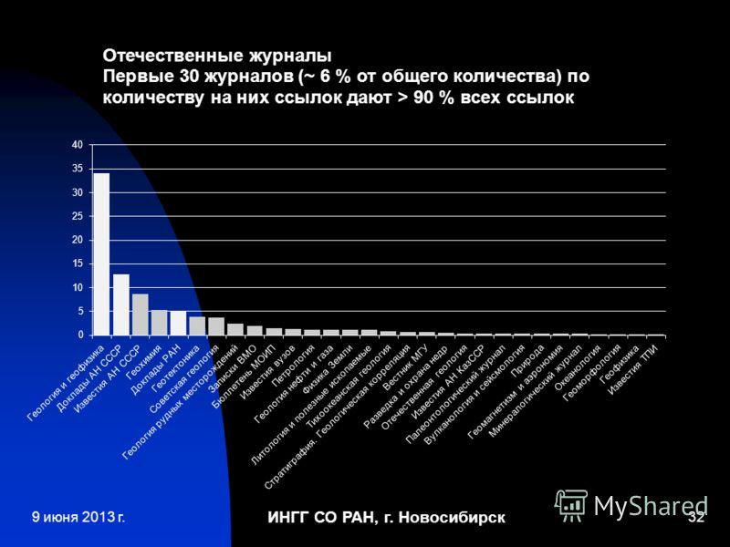 ИНГГ СО РАН, г. Новосибирск 329 июня 2013 г.