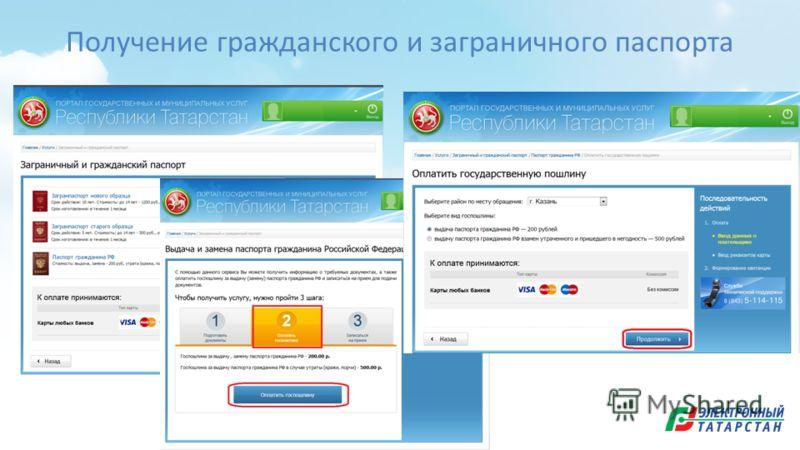 Получение гражданского и заграничного паспорта