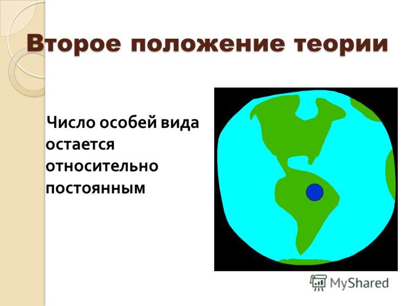Второе положение теории Число особей вида остается относительно постоянным