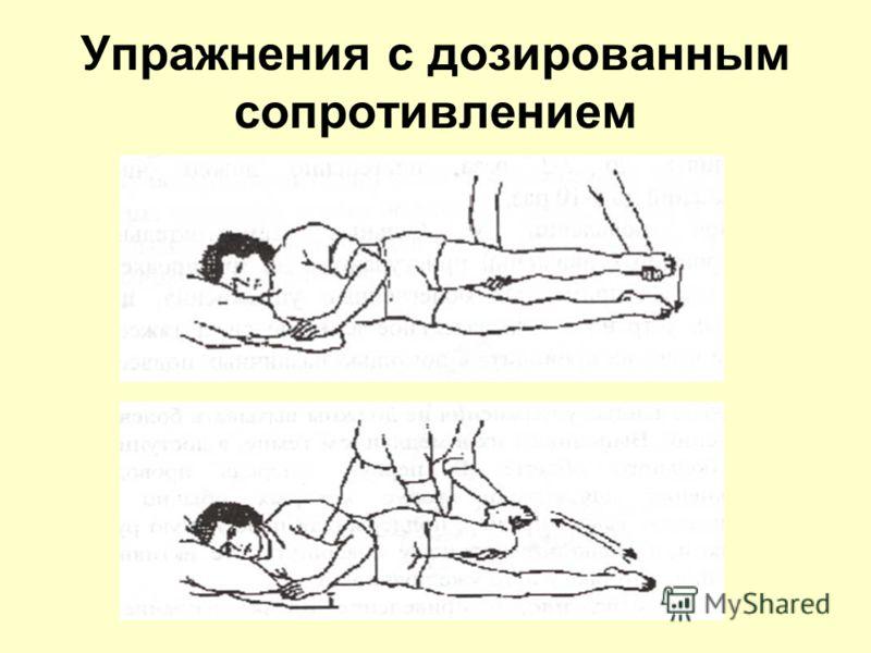 Упражнения с дозированным сопротивлением