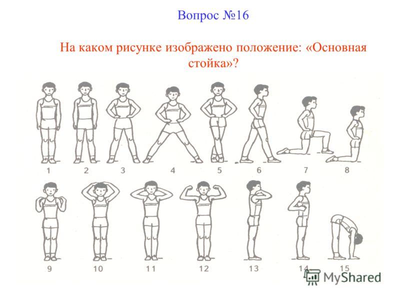 Вопрос 16 На каком рисунке изображено положение: «Основная стойка»?