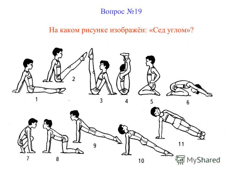 Вопрос 19 На каком рисунке изображён: «Сед углом»?