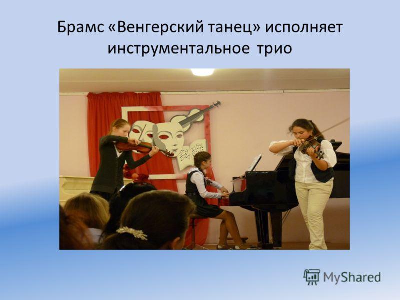 Брамс «Венгерский танец» исполняет инструментальное трио