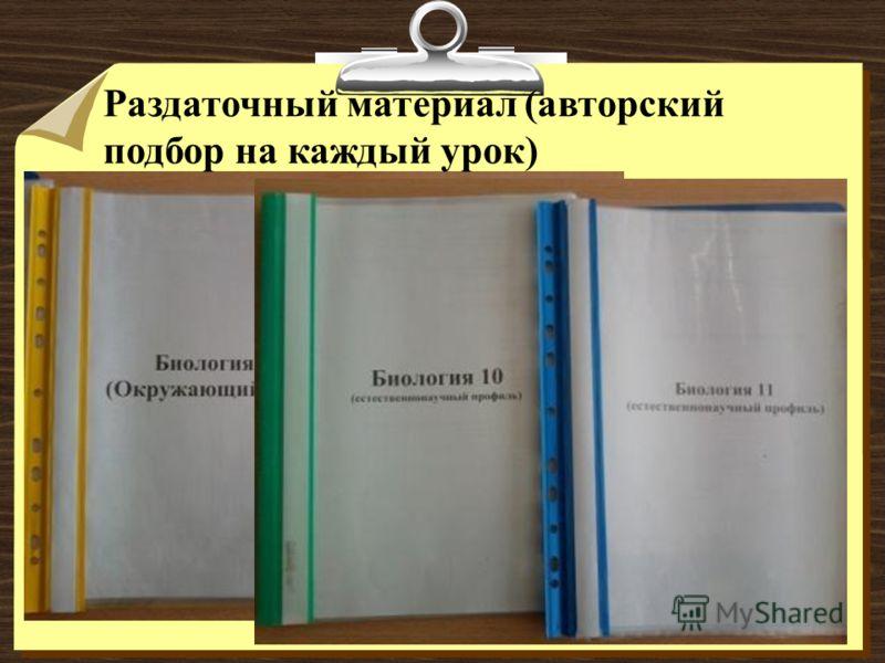 Раздаточный материал (авторский подбор на каждый урок)