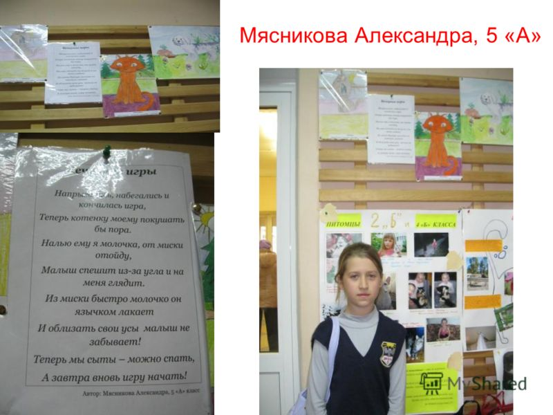 Мясникова Александра, 5 «А»