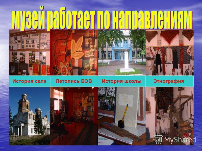 Летопись ВОВ ЭтнографияИстория школыИстория села