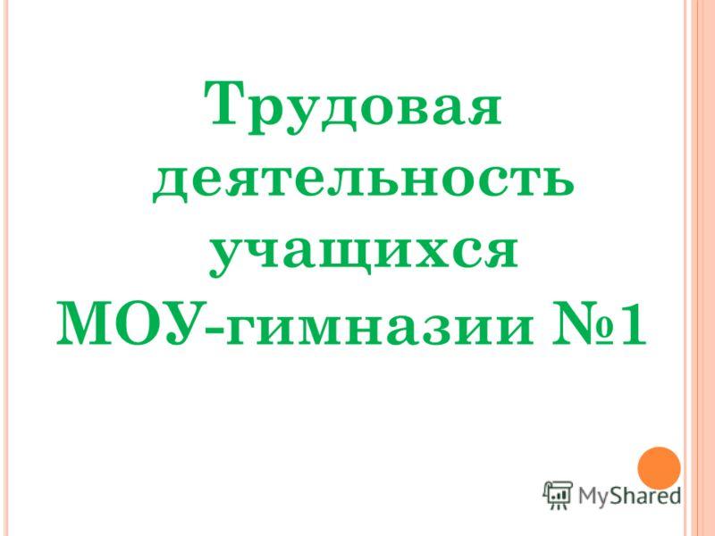Трудовая деятельность учащихся МОУ-гимназии 1
