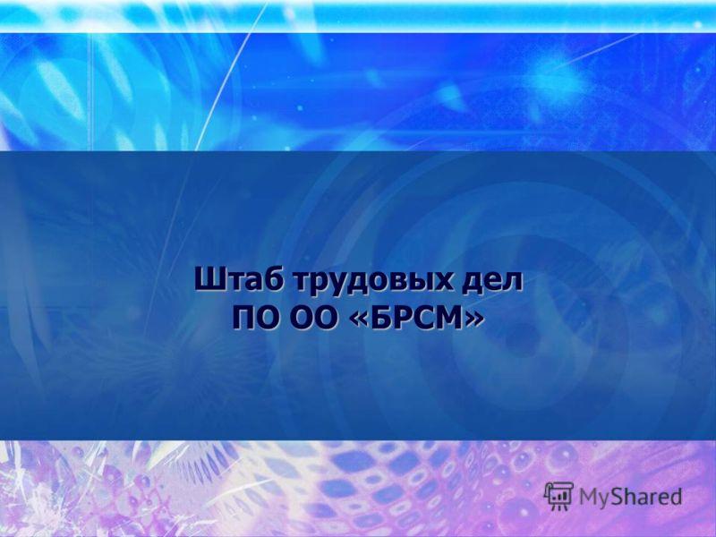 Штаб трудовых дел ПО ОО «БРСМ»